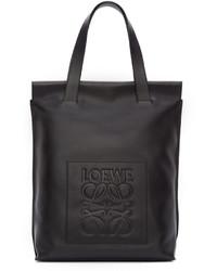 Bolsa tote de cuero negra de Loewe