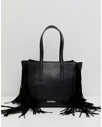 Bolsa tote de cuero negra de Max & Co.