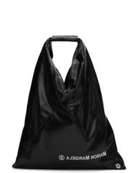 Bolsa tote de cuero negra de MM6 MAISON MARGIELA