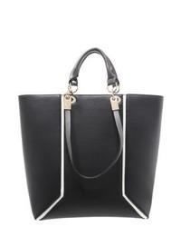 Bolsa Tote de Cuero Negra de New Look