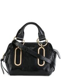Bolsa Tote de Cuero Negra de See by Chloe