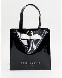 Bolsa tote de cuero negra de Ted Baker
