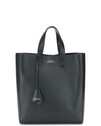 Bolsa tote de cuero negra de Versace Collection