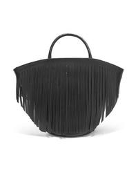 Bolsa tote de cuero сon flecos negra de Trademark