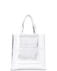 Bolsa tote de cuero plateada de Calvin Klein 205W39nyc