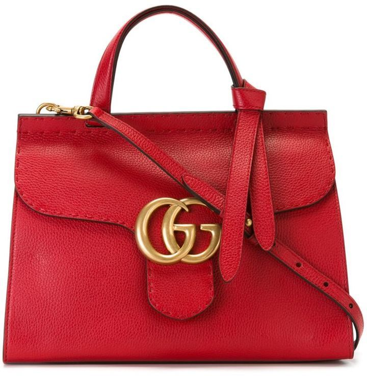 Bolsa tote de cuero roja de gucci lookastic jpg 720x736 Bolsas gucci 48d544ffad