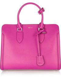 Bolsa tote de cuero rosa de Alexander McQueen