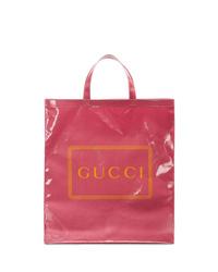 Bolsa tote de cuero rosa de Gucci