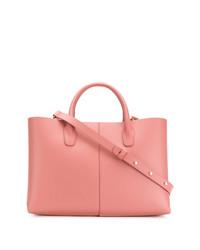 Bolsa tote de cuero rosada de Mansur Gavriel