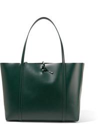 Bolsa Tote de Cuero Verde Oscuro de Kara