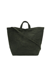 Bolsa Tote de Cuero Verde Oscuro de Zilla