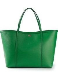 Bolsa tote de cuero verde de Dolce & Gabbana
