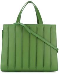 Bolsa tote de cuero verde de Max Mara