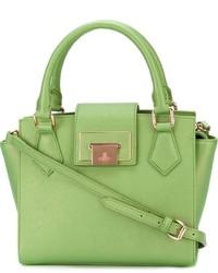 Bolsa tote de cuero verde de Vivienne Westwood