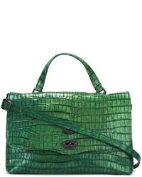 Bolsa tote de cuero verde de Zanellato
