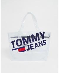 Bolsa tote de goma transparente de Tommy Jeans