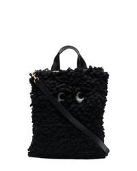 Bolsa Tote de Lana Negra de Anya Hindmarch