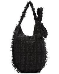 Bolsa Tote de Lana Negra de Simone Rocha