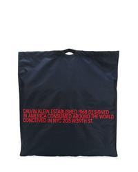Bolsa tote de lona azul marino de Calvin Klein 205W39nyc