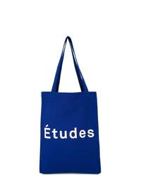 Bolsa tote de lona azul de Études