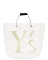 Bolsa tote de lona bordada blanca de Ys