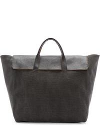 Bolsa tote de lona en gris oscuro de 3.1 Phillip Lim