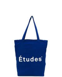 Bolsa tote de lona estampada azul de Études