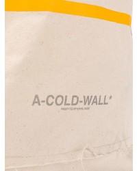 Bolsa tote de lona estampada en beige de A-Cold-Wall*