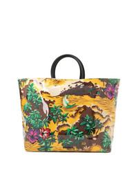 Bolsa tote de lona estampada en multicolor de Dsquared2