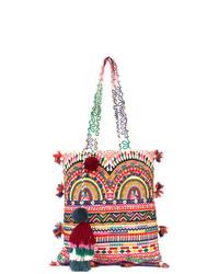 Bolsa tote de lona estampada en multicolor de Figue