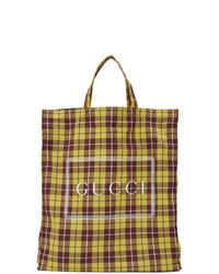 Bolsa tote de lona estampada en multicolor de Gucci