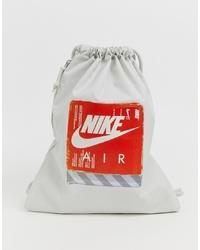 Bolsa tote de lona estampada gris de Nike