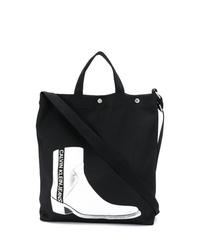 Bolsa tote de lona estampada negra de Calvin Klein