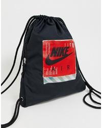 Bolsa tote de lona estampada negra de Nike