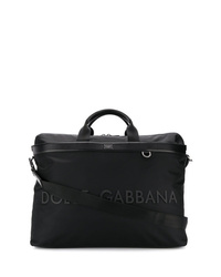 Bolsa tote de lona negra de Dolce & Gabbana