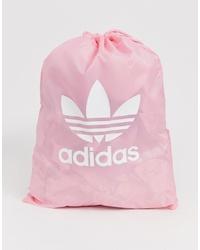 Bolsa tote de lona rosada de adidas