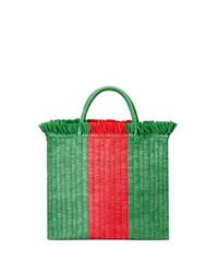Bolsa tote de paja verde de Gucci