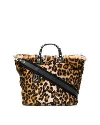 Bolsa tote de pelo de leopardo marrón de Dolce & Gabbana
