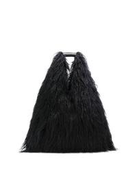 Bolsa tote de pelo negra de MM6 MAISON MARGIELA