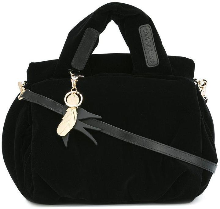 Bolsa tote de terciopelo negra de See by Chloe  dónde comprar y cómo ... 56bcf8bbd9