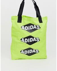Bolsa tote en amarillo verdoso de adidas Originals