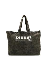 Bolsa tote en negro y blanco de Diesel