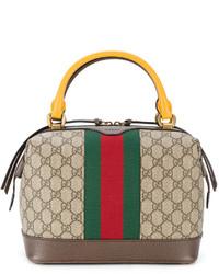 Bolsa Tote Estampada Marrón Claro de Gucci