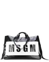 Bolsa tote estampada negra de MSGM