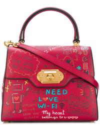 Bolsa Tote Roja de Dolce & Gabbana