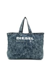 Bolsa tote vaquera azul marino de Diesel