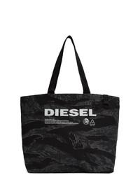 Bolsa tote vaquera de camuflaje negra de Diesel