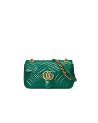 Bolso bandolera de ante verde de Gucci