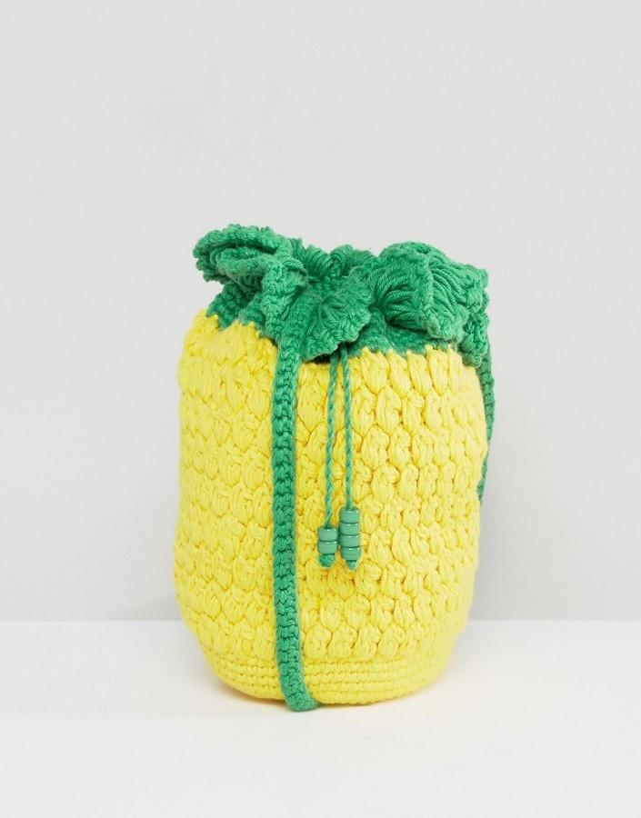 de comprar crochet de Asos Bolso bandolera amarillo y cómo dónde Hw71SxSq