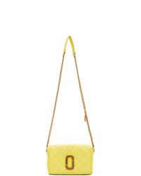 Bolso bandolera de cuero acolchado amarillo de Marc Jacobs